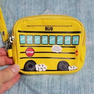 Other - Adorable yellow school bus change purse